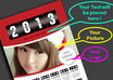 create Printready Exclusive wall Calendar 2013 that is PERSONALIZED for you, such as the Image, Colors, Text and Logo small2