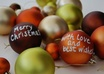write your Christmas message or greeting on coloured baubles small2