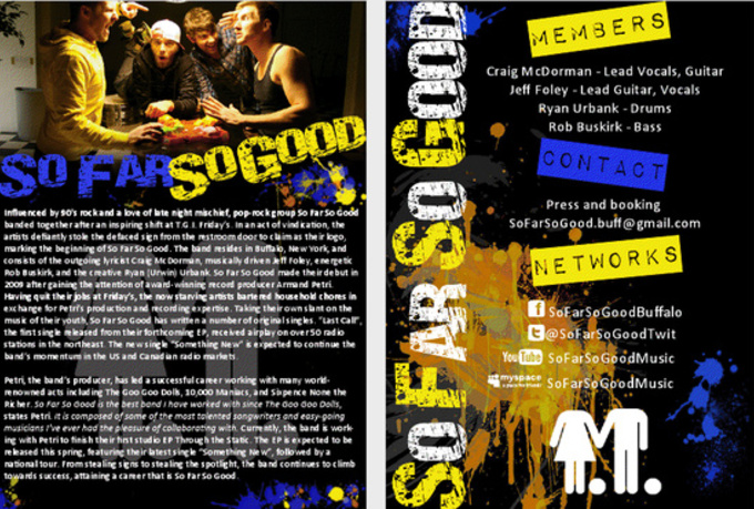 make your band a professional looking event poster  flyer or epk