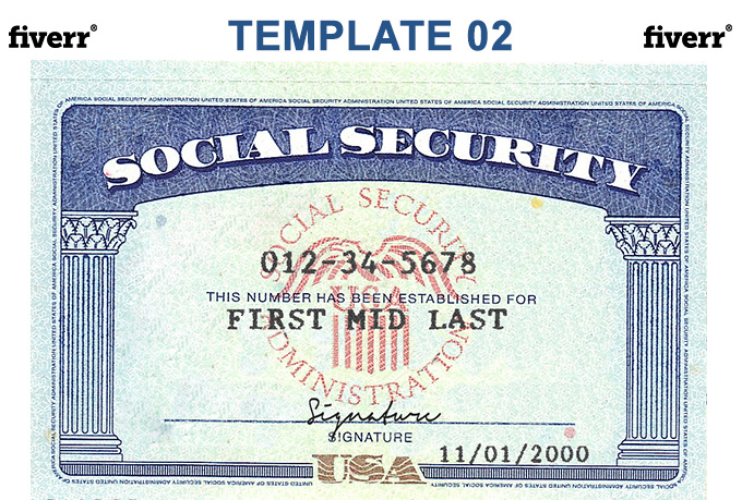 Make a novelty social security card or driver licenses for Make a social security card template