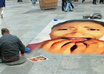 create sidewalk art illusion of your pic in busy city small2