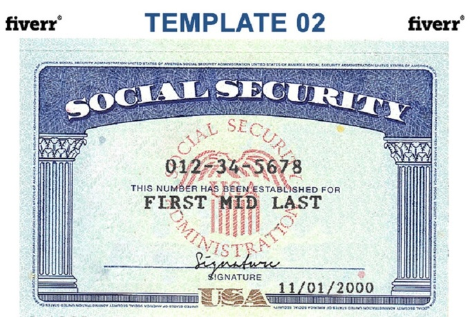 Novelty Social Security Card Template GQMRDVPk