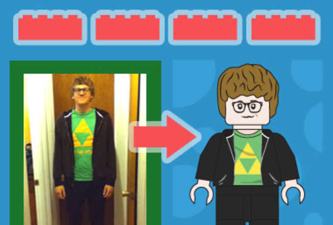 illustrate any person or character as a Lego minifigure