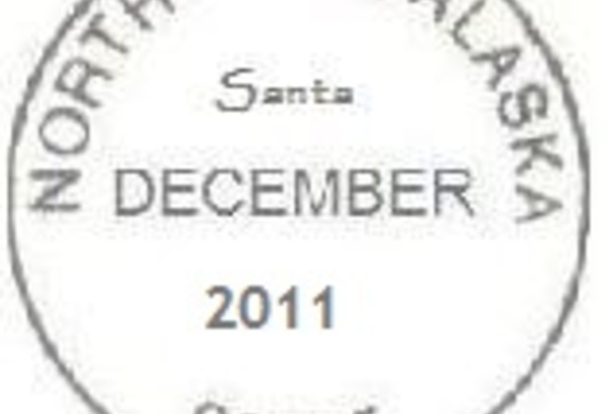 hand write a letter to your child from Santa postmarked from the North Pole