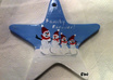 hand paint and personalize a snow family ceramic ornament for you small3