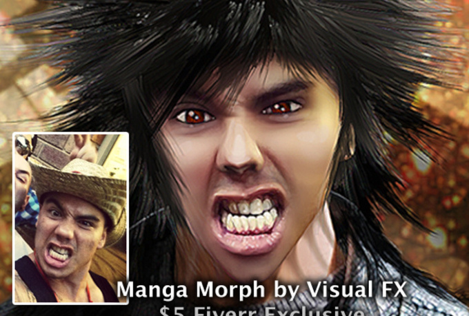turn your face into a cool realistic MANGA