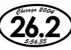 make you a customized euro style oval marathon or half marathon car decal/sticker with the race city, year and your finish time on it small3