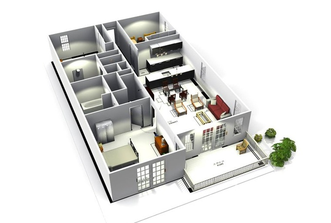 draw a 3d floorplan of your home or building