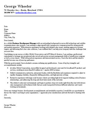 cover letter one page - Template