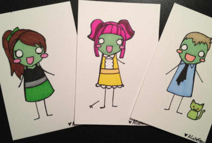 draw you as an adorable zombie