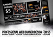 design BANNER for your website, professional web banner design