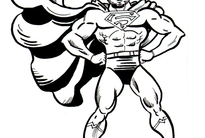 Cool Easy To Draw Superhero Logos Sketch Coloring Page