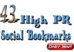 do Social bookmarking within 4 days  manually in 43 Top Rated PR3 to PR8 sites