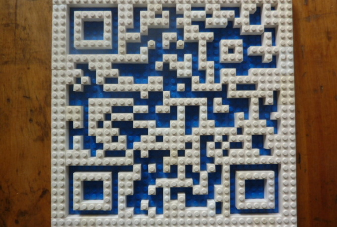 build your QR code out of lego and send you a high quality jpg image
