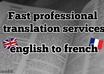 translate a text from english to french