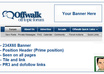 upload 234X60 static banner in header near Offwalk forum logo