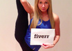 hold the ultimate fan sign while STRETCHING small1
