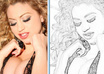 convert your photo to a digital charcoal outline