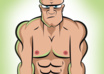 create you a vector cartoon picture, with your cartoonized head in body of bodybuilder