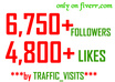 get you 6750+ QUALITY instagram followers and 4800 instagram likes to your profile in under some hours