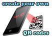 10 QR codes of any text you want such as url address or texts