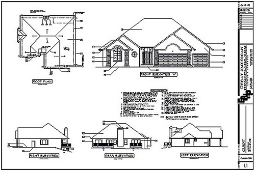 Plan Section Elevation Examples : Prepare a simple building foundation plan by using autocad