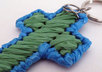 send 1 handcrafted plarn cross key chain to your US address small1