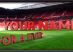 place your name at manchester united old trafford