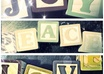 create a photo collage with up to 4 block letter words small1
