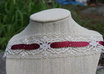 create a handsewn lace choker