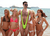 dress you in Borat swimsuit and surround with hot babes