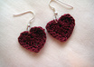 crochet dainty HEART Earrings small1