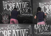 make chalk art with RETRO classic lettering