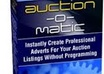 give you template software for automatically creating Auction Ads that hit potential bidders between the eyes without ANY programming