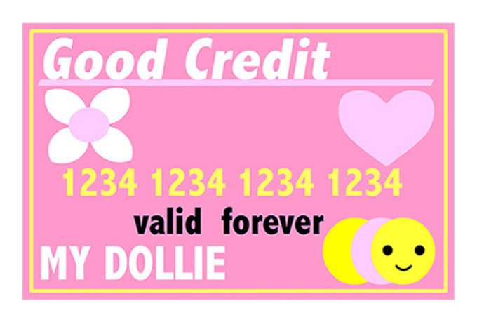make a credit card for a doll