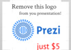 remove prezi logo and add your logo