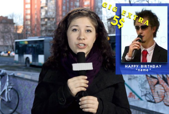 make a Happy Birthday Video Prank News Report