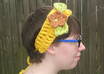 crochet a flowered headband