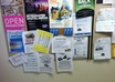 distribute 20 fliers for jobs, websites, services, etc, all over campuses