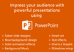 create high class powerpoint presentation of 5 slides