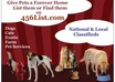 give Front Page Feature Ad 4 your Pet /Animal