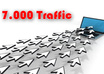 give you Over 7000 Traffic Hits Views To your Website