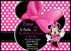 create a beautiful personalized Minnie Mouse BIRTHDAY Invitation Card print ready