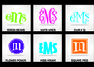 print a MONOGRAM Curly Decal for your Car, Truck, Room, the Latest Sticker Trend on Vehicles
