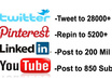 tweet to 28000+ Repin to 5200+ Post url to 861 Youtube Subs, and Post link to my Linkedin top 5 percent in the world of 200 Mil members