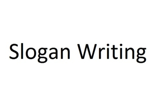 Write a brilliant entry for slogan writing competition