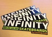 mail you 10 Infinity skateboard stickers