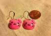 make you a pair of these cute pink kitten earrings