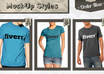 make awesome tshirt mock ups of your designs