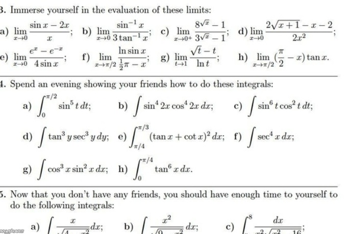 calculus math problems Learn for free about math, art, computer programming learn introductory college calculus for free khan academy is a nonprofit with the mission of.
